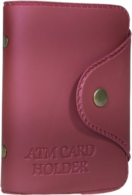 Rosset 10 Card Holder(Set of 1, Maroon)
