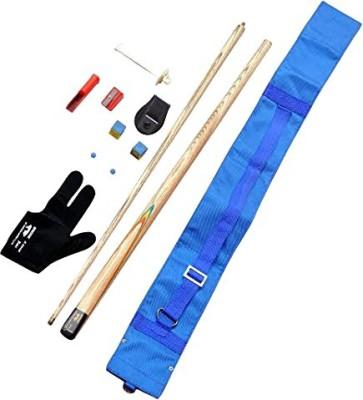 KBA combo 4 (tip,glove,chalks,chalk holder,blue cue cover,bridge cue n tip modifiers) KBAC4 Pool Cue Stick(Wooden)