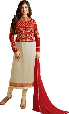 Fashionuma Embroidered Kurti & Salwar(Stitched)