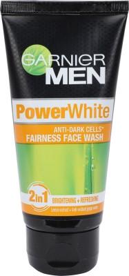 Garnier Men Power White Anti Dark Cells Face Wash(50 g)  available at flipkart for Rs.90