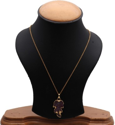 The Sparkle Story Red Color Stylish 20x37mm Gold Plated Partywear Pendant Necklace Alloy Chain  available at flipkart for Rs.319