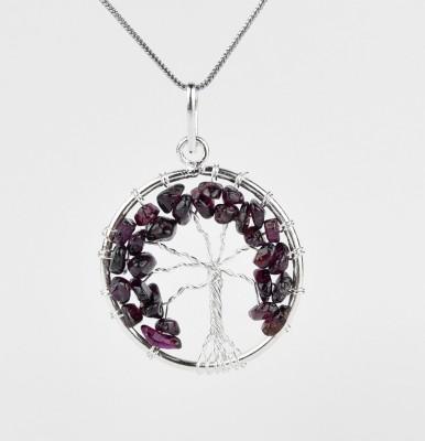 sibagems Amethyst tree of life pendant Sterling Silver Amethyst Stone, Sterling Silver, Silver Pendant