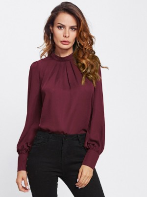 Alfa Fashion Party Flared Sleeve Self Design Women