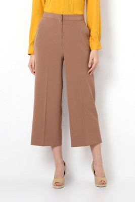 Van Heusen Regular Fit Women Brown Trousers