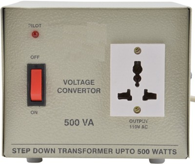 PagKis HEC500 220V to 110V Voltage Converter for Eletronic Items for US, Canada Electronic Products upto 500 Watt Step Down Transformer 500W(Off White)