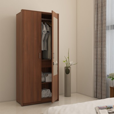 Spacewood Classy Engineered Wood 3 Door Wardrobe(Finish Color - Brown, Mirror Included)