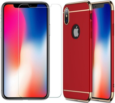 SHINESTAR. Front   Back Case for Apple iPhone X Red