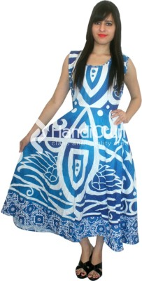 JHA FASHION Women Maxi Blue Dress