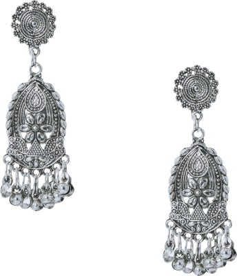 Shining Jewel 925 Antique Silver Oxidised Brass Dangle Earring  available at flipkart for Rs.331