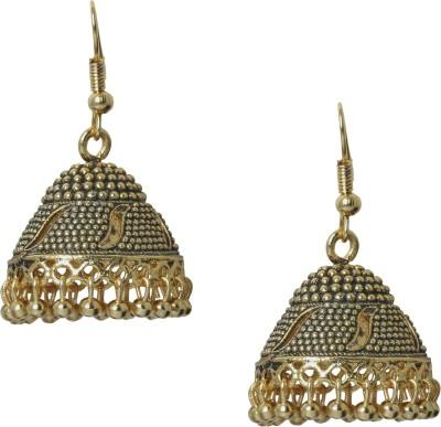 Shining Jewel 24K Antique Designer Temple Brass Jhumki Earring  available at flipkart for Rs.322