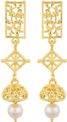 Voylla Dangle Drop Galaxy Jhumka Earrings Pearl Alloy Dangle Earring  available at flipkart for Rs.174