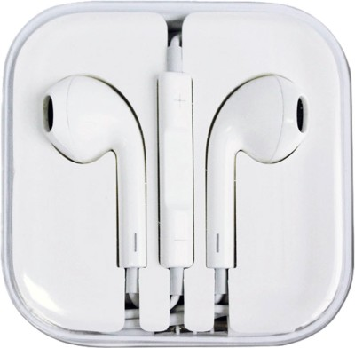 Uno Covers Earpod for Iphone 5, 5S, 5C, 6, 6S, 6 Plus, 6S Plus, 7, 7 Plus, Ipad, Ipod Wired Headset With Mic (White) Headphone(White, In the Ear)