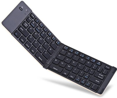 "Easypro â""¢ F66 Universal Foldable Handhandle 01 Bluetooth Multi device Keyboard Silver"