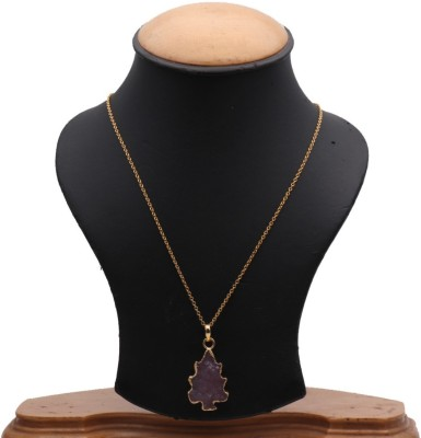 The Sparkle Story Red Color Druzy 37x20mm Partywear Pendant Necklace Alloy Chain  available at flipkart for Rs.319