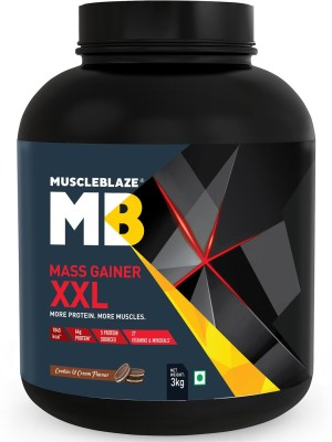 MuscleBlaze Mass Gainer XXL, 3 KG/6.6 LB Cookies & Cream