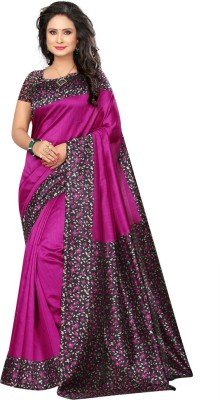 Saara Printed Daily Wear Poly Silk Saree(Pink)