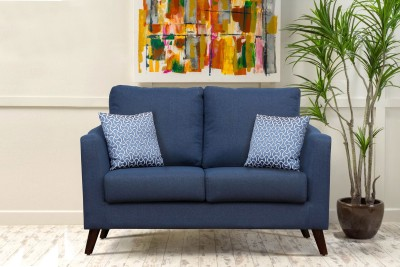 Peachtree Fabric 2 Seater  Sofa(Finish Color - Blue)