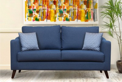 Peachtree Fabric 3 Seater  Sofa(Finish Color - Blue)