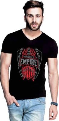 izzard Printed Men & Women V-neck Black T-Shirt