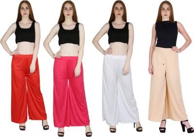Marami Regular Fit Women Pink, Red, Maroon, Black, Yellow Trousers