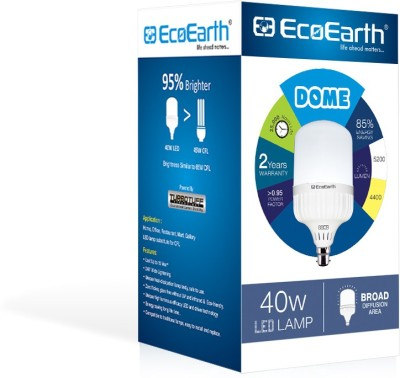 ECOEARTH 40 W Round B22 LED Bulb(White)  available at flipkart for Rs.894