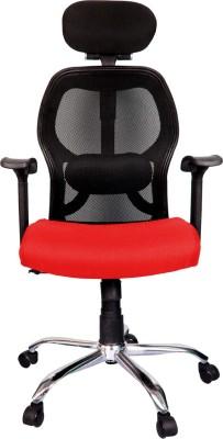 Rajpura Matrix High Back Revolving Chair with Headrest and Centre Tilt Mechanism...