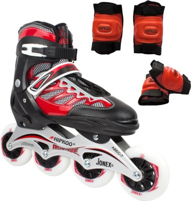 Hipkoo Jonex LEADER Inline skates with skate bag and protective set 2, 178 Large 100 mm, Size 40-43 In-line Skates - Size 6.5-9 UK(Multicolor)