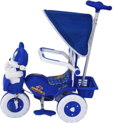 Babyjoys Baby Tricycle 86*64*33 cms 1-3 yrs W/Shade and Parental Control (Blue) - Blue1522MC Tricycle(Blue)