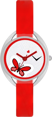 FASHION POOL VALENTIME LADIES OVAL SHAPED STAINLESS STEEL DIAL PERFECT RED COLOR COMBINATION MOST STUNNING FESTIVAL SPECIAL PROFESSIONAL & PARTY WEAR WATCH Watch  - For Girls  available at flipkart for Rs.179