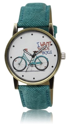 CM Girls Watch I WANT TO RIDE BICYCLE- Green Bicycle Printed On Dial LR 0229 Watch  - For Men & Women  available at flipkart for Rs.229