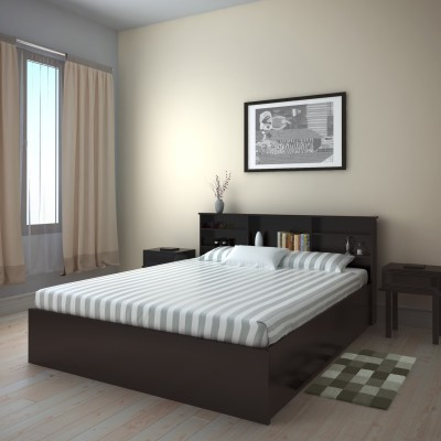 Perfect Homes by Flipkart Opus Engineered Wood Queen Bed With Storage(Finish Color -  Wenge)