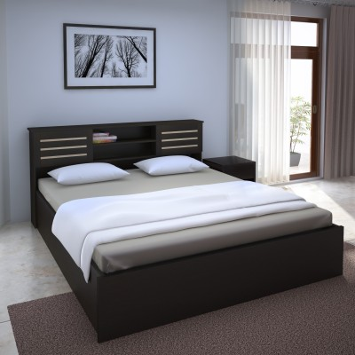 Perfect Homes by Flipkart Waltz Engineered Wood King Bed With Storage(Finish Color -  Wenge)