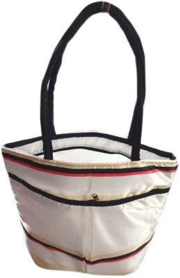 VShine Big Size Travel tote bags fashion bag Shopping Tote Bag Baby Diaper Bag Nappy Mother Portable Travel satin Handbag - Silver Messenger Diaper Bag(Silver)  available at flipkart for Rs.479
