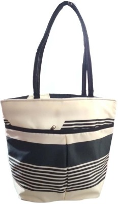 VShine Big Size Travel tote bags fashion bag Shopping Tote Bag Baby Diaper Bag Nappy Mother Portable Travel Satin Handbag - Silver Black Messenger Diaper Bag(Black)  available at flipkart for Rs.489