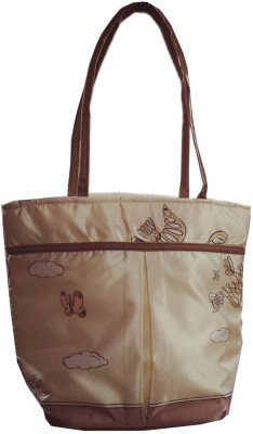 VShine Big Size Travel tote bags fashion bag Shopping Tote Bag Baby Diaper Bag Nappy Mother Portable Travel satin Handbag - Multicolor Messenger Diaper Bag(Off-White)  available at flipkart for Rs.484