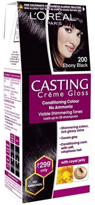L'Oreal Casting Crème Gloss Conditioning  Hair Color(200 Ebony Black)