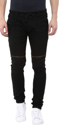 Urbano Fashion Jogger Fit Men Black Jeans