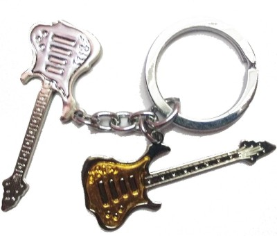 Prime Key Chain Metal gold and silver gitar key chain Key Chain  available at flipkart for Rs.189