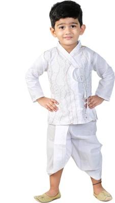 cae835974f04 73% OFF on BAHUBALI Boys Festive & Party Dhoti & Kurta Set(White Pack of 2)  on Flipkart | PaisaWapas.com