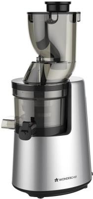 WONDERCHEF Cold press Cold Press Juicer V6 - Full Fruit 200 W Juicer (2 Jars, Black and Silver)