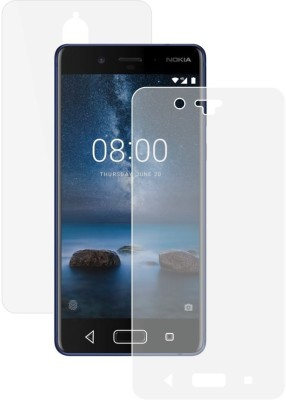 Case Creation Front and Back Screen Guard for Nokia 8(Pack of 2)
