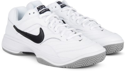 Nike COURT LITE Tennis Shoes For Men(White) 1