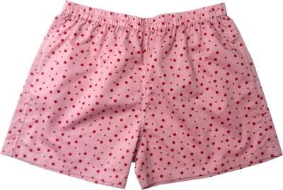 Always Kids Polka Print Women Pink Regular Shorts