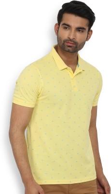 U.S. Polo Assn Printed Men Polo Neck Dark Blue, Light Blue T-Shirt