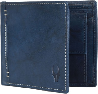 WILDHORN Men Blue Genuine Leather Wallet 3 Card Slots WILDHORN Wallets