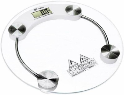 WDS ™ Personal Health Human Body Weight Machine 8mm Round Glass Weighing Scale  (White) Weighing Scale(Transparent)  available at flipkart for Rs.649