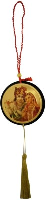 DivyaMantra Shri Radha Krishna Talisman Gift Pendant Amulet for Car Rear View Mirror Decor Ornament Accessories/Good Luck Charm Protection Interior Wall Hanging Showpiece Car Hanging Ornament(Pack of 1)  available at flipkart for Rs.299