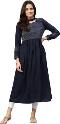 Jaipur Kurti Women A-line Blue Dress