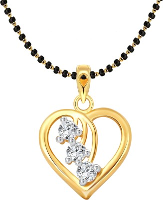 Vighnaharta Cherry Heart MSPG 18K Yellow Gold Cubic Zirconia Alloy Pendant