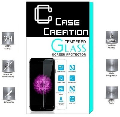 Case Creation Tempered Glass Guard for OPPO A57(Pack of 1)